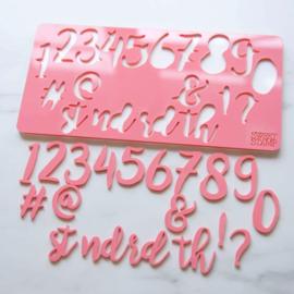 Sweet Stamp STYLISH set Numbers & Symbols