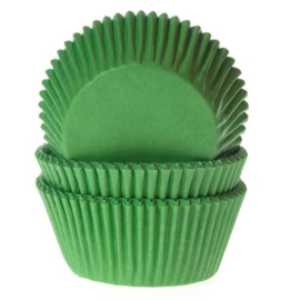 HOM Baking Cups Gras Groen House of Marie 50/pk