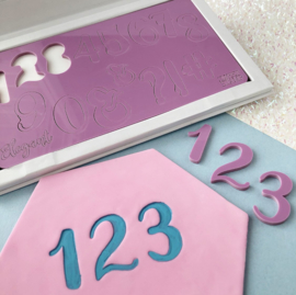 Sweet Stamp ELEGANT set Numbers & Symbols INCL. OPBERGBOX