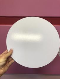 Wit Cake board van MDF 30 cm rond
