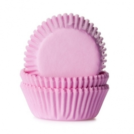 0150823 House of Marie Mini Cupcake Baking Cups Licht Roze 60/Pk