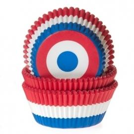 NEDERLANDSE VLAG cupcake baking cups House of Marie 50/Pk