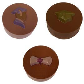 Geslaagd / diploma thema Oreo koekjes versieren chocolade mal