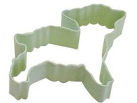 Lammetje / baby schaapke  koekUitsteker met coating