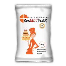 Pumpkin orange - oranje - Velvet SMARTFLEX  Rolfondant met vanille smaak 250 Gram