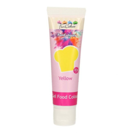 YELLOW Funcolour concentrated color Gel Funcakes