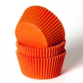 4952 House of Marie Mini Cupcake Baking Cups oranje  60/Pk