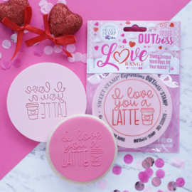 """I Love you A Latte "" Outboss Valentine Sweetstamp"