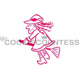 333110 Cookie Countess Witch on a Broom Stencil