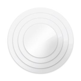 """17,5 cm / 7"""""""" ronde Acryl Ganache plates om een taart strak af te smeren 2/pk"""