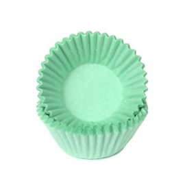 Pastel / mint groen-Mini Cupcake cups-chocolade- petitefour-House Of Marie 100/pk