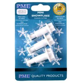 Sneeuwvlokjes mini  Plunger Set van 3 PME