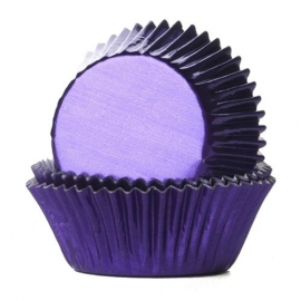 015215 House of Marie baking cups  foil purple 24/pk