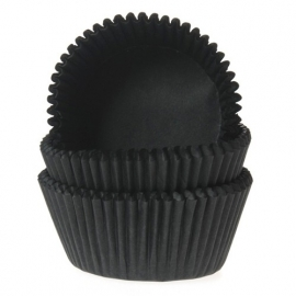 015047-1 MINI Baking Cups Zwart House of Marie  60/pk