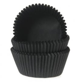 ZWARTE cupcake baking cups House of Marie 50/Pk