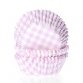 015181 House of Marie MINI Baking Cups ruit Roze 60/pk