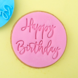 Trendy Happy Birthday Cookie/ Cupcake embosser