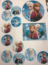 Frozen eetbare print rond en rechthoek
