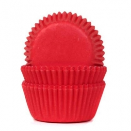 RED VELVET mini cupcake baking cups 60/pk