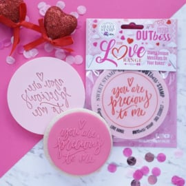 """YOU ARE PRECIOUS TO ME"" Outboss Valentine Sweetstamp"