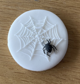 Spin in web  - Halloween - fondant stempel - PartyStamp - Outbosser