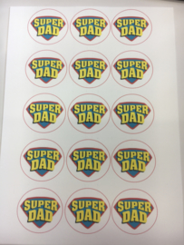 SUPER DAD eetbare Print