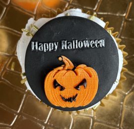 Happy Halloween - pompoen - fondant stempel - PartyStamp - Outbosser