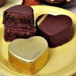 Heart  3 delige chocolade mal