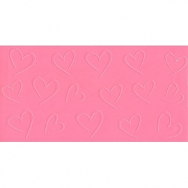 047078 CK Impression Mat Open Hearts 30x15 cm