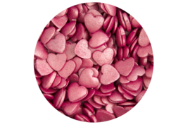 Glimmer hearts Deep Pink