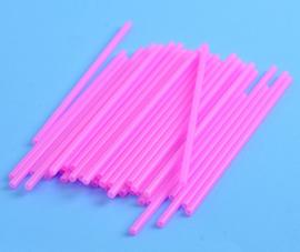 07051 Roze lolliestokjes 15 cm lang 25 stuks