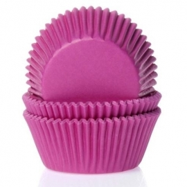 015035 House of marie baking Cups Fuchsia Pink 50/Pk