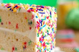 Regenboog Bakvaste sprinkles /   Funfetti sprinkels