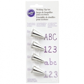 #3 , #55 , #33 & #14 Wilton writing Tips set van 4