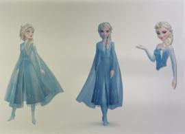 Elsa 3x voor op taart eetbare print