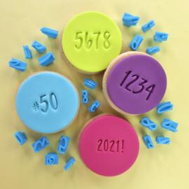 Script  NUMBERS & SYMBOLS  aanvullende set voor de Sweet Stamp mini Message