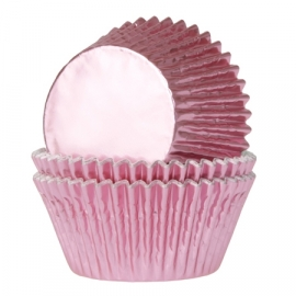 4372 Mini Baby roze Folie Baking Cups House of Marie