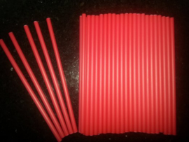 Rode lolliestokjes 15 cm lang 25 stuks