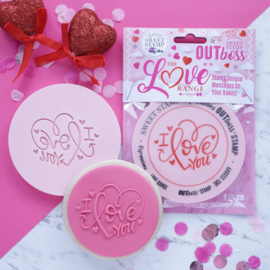 """I Love you Heart "" Outboss Valentine Sweetstamp"