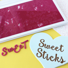 PRE ORDER NOW! SWEETSTICKS Edition full set & opbergbox , upper en lowercase Sweet Stamp