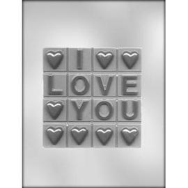 I Love you Chocolade bar / reep chocolade mal
