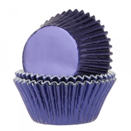 015213 Cupcake Cups Navy blauwe Folie House Of Marie  24/Pk