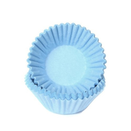 Pastel Blauwe-Mini Cupcake cups-chocolade- petite four-House Of Marie 100/pk