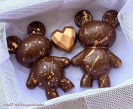 Smash Teddy beer 3 delige chocolade mal