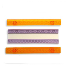 JEM Ribbon Cutter set 2 -Hearts & Diamonds