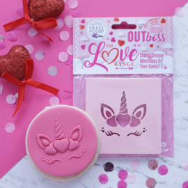 Hearts Unicorn-Outboss - Sweetstamp-