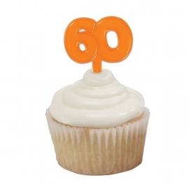 Cupcake Toppers 60 Oranje 6/Pk