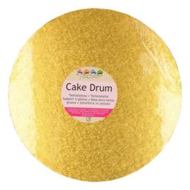 25 cm ronde gouden Cake drum