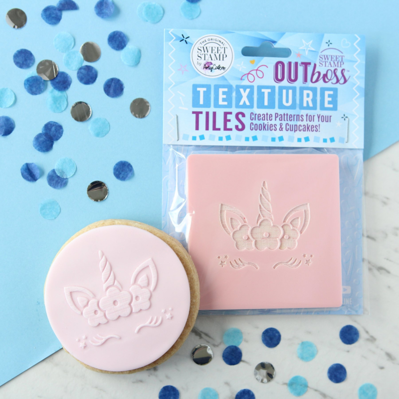 FLORAL UNICORN- flower- Outboss -Texture Tiles- Sweetstamp