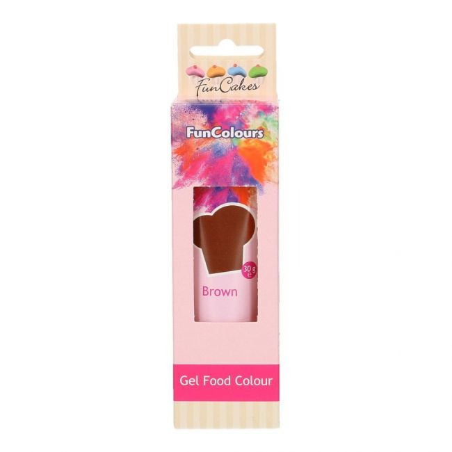BROWN Funcolour concentrated color Gel Funcakes